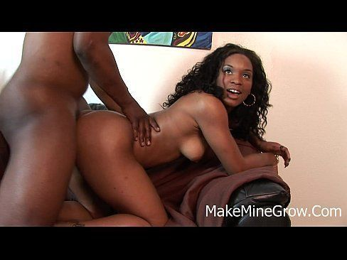 Ebony gets fucked hard