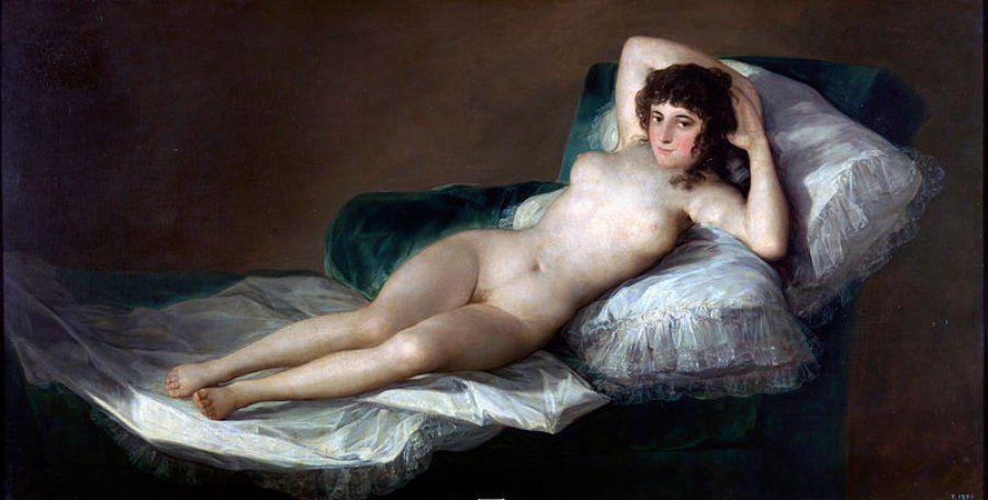 Nude black island woman