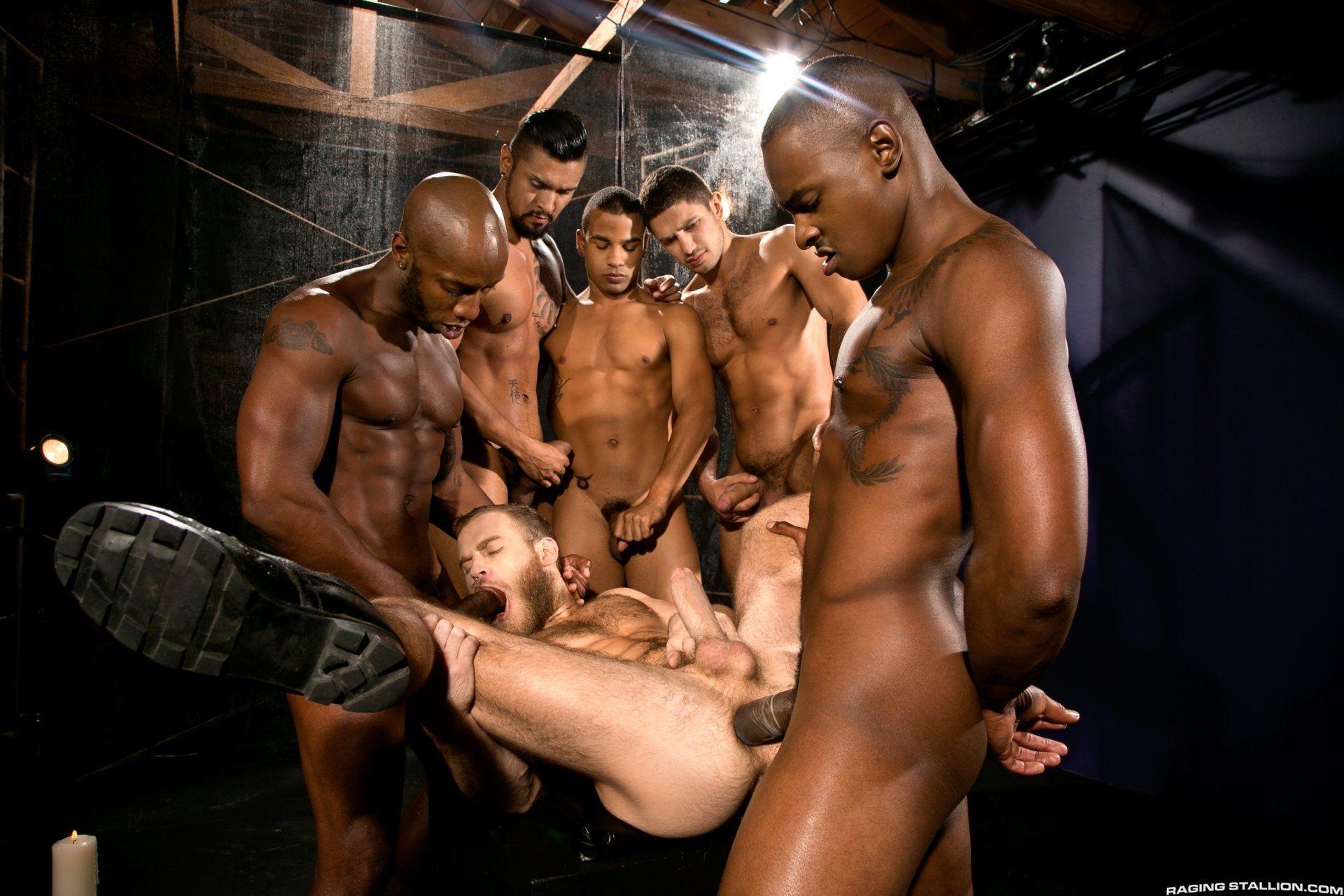 Gay sex orgy interracial