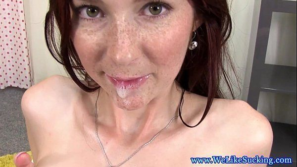 Simply matchless mature redhead big tits sucking dick