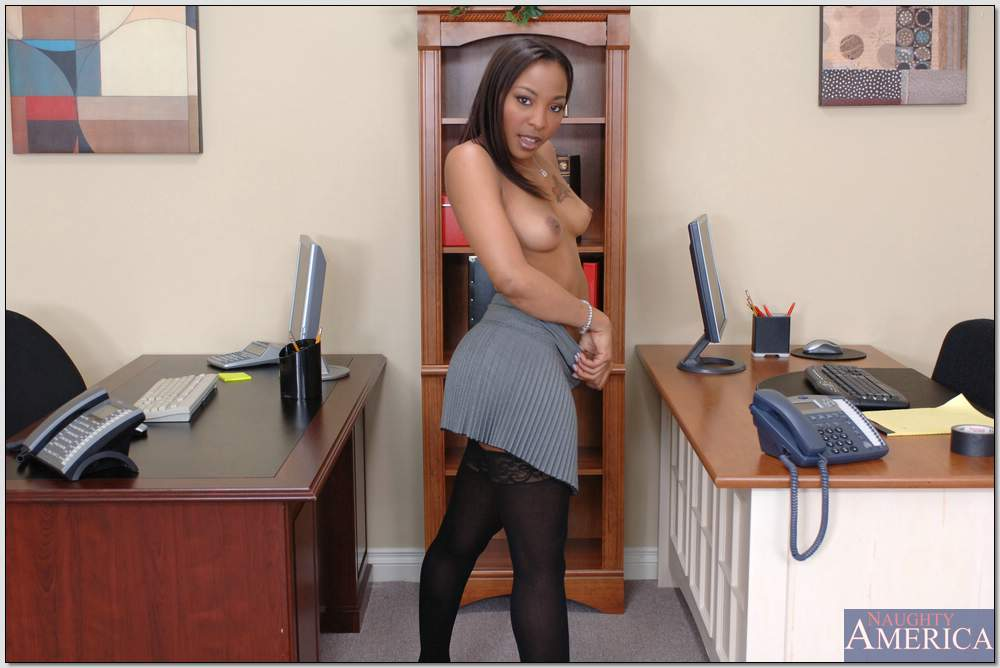 Black girl office sex have