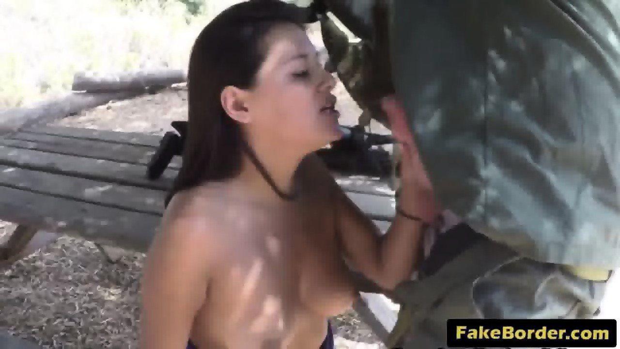 Latina cock sucking border agents picture 143