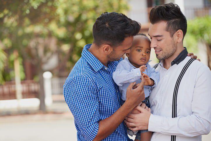 Gay parents and adoption