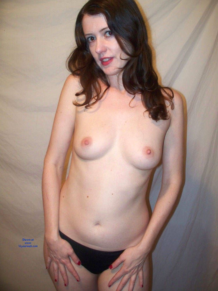 Naked wife with legs open