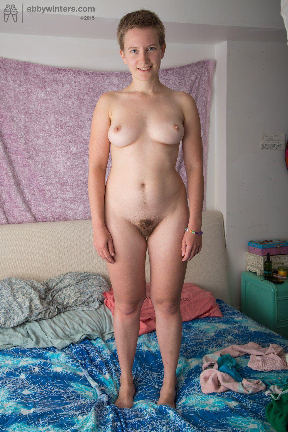 Nude short woman