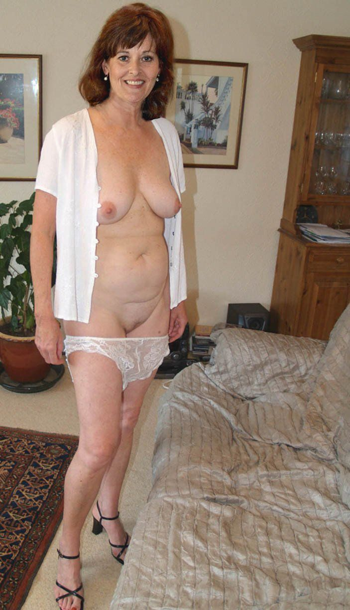 Half naked mature women