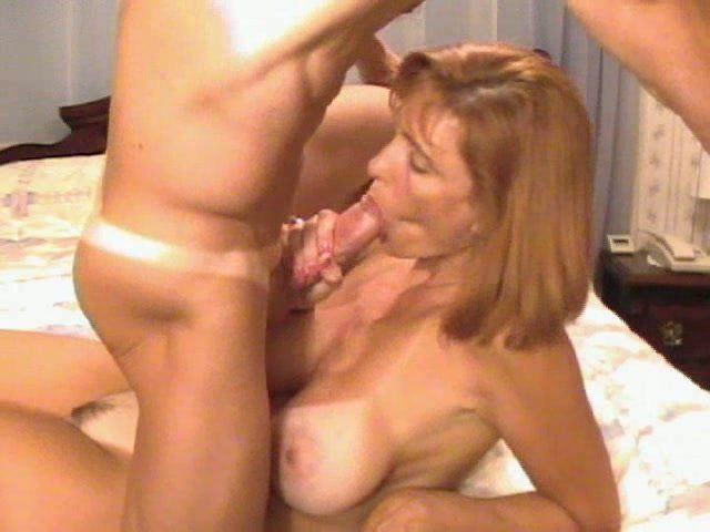 Milf sucking young dick