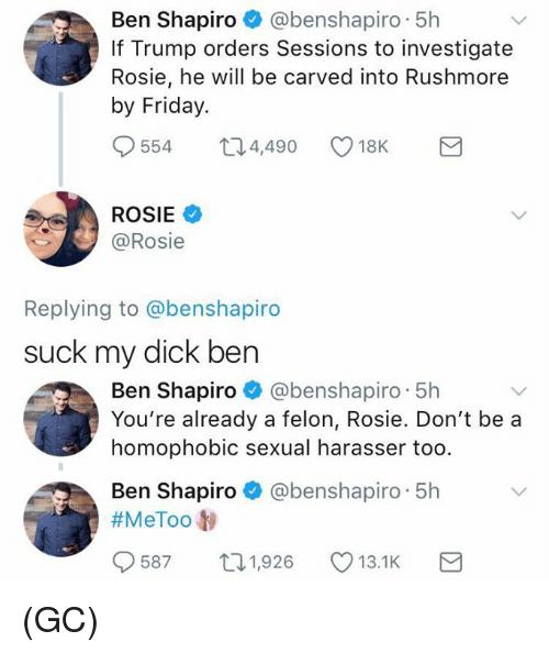 Shapiro you suck