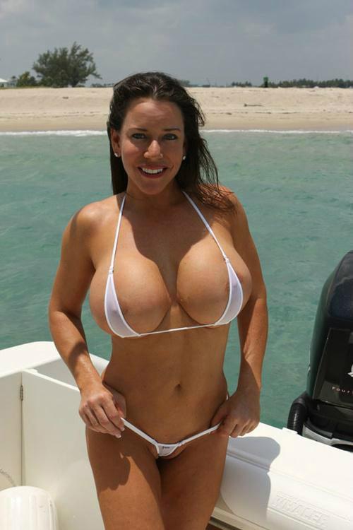 string bikini big tits