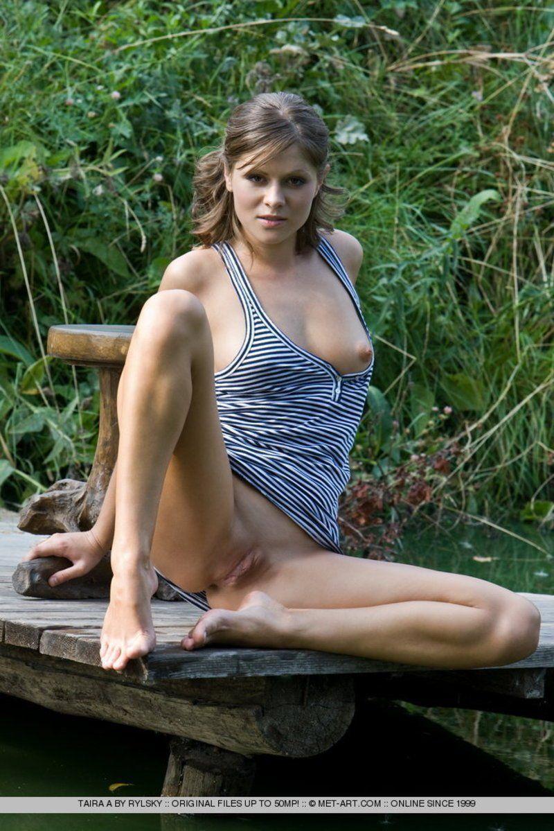 Saggy tits in bondage