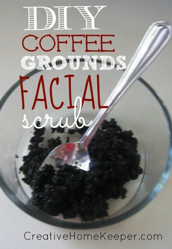 Coffee ground facial