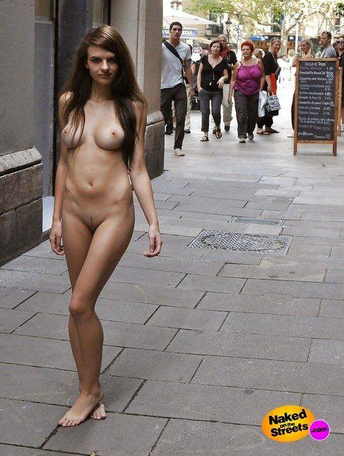 Nude women on the street