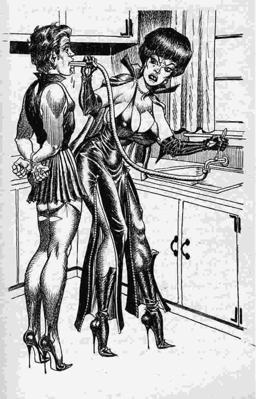 Bdsm Vintage Porn bdsm artwork drawings submissive - top porn images.