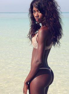 Hot skinny ebony