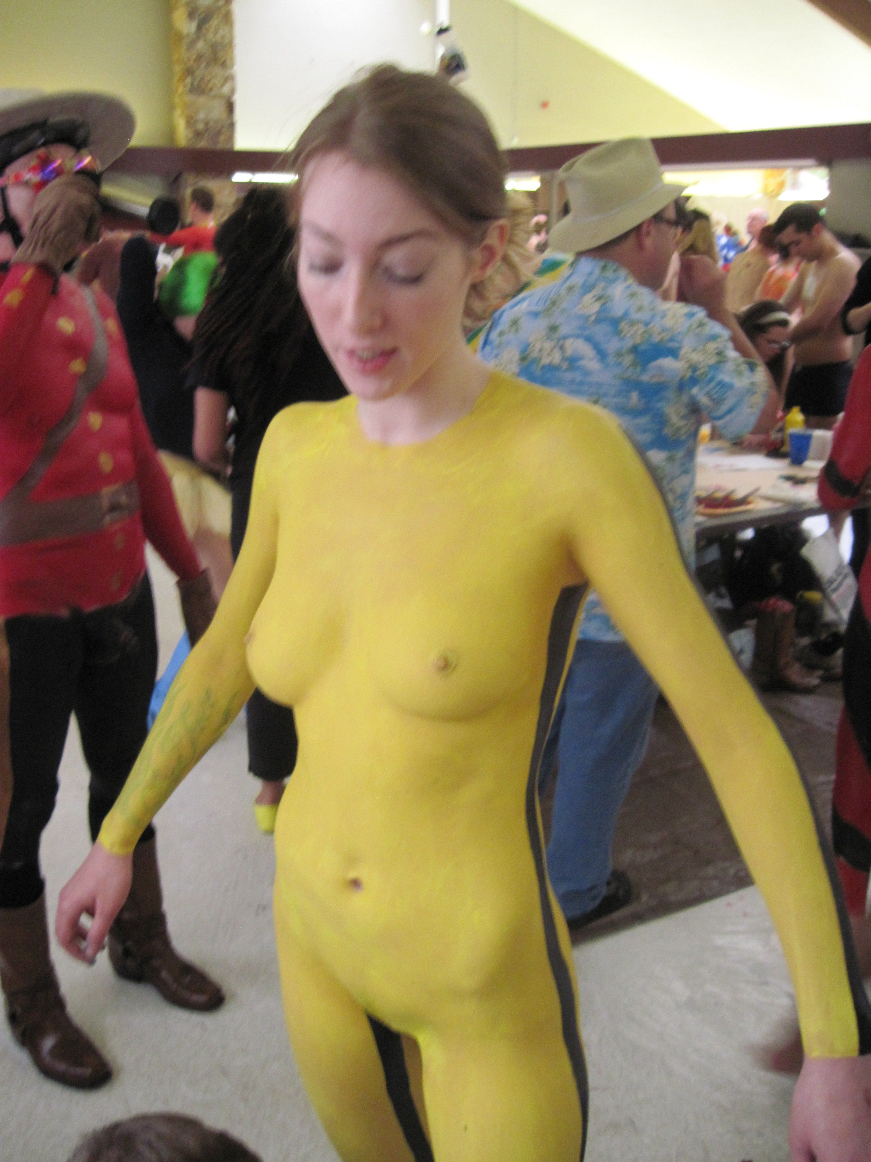 Sexy nude cosplay body paint pity