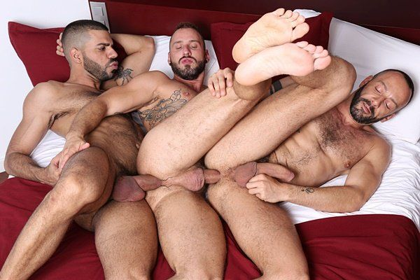 best of Hunk threesome Gay