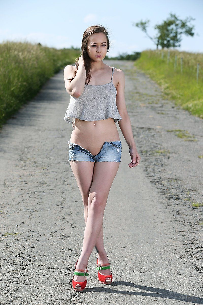 Blonde teen on beach