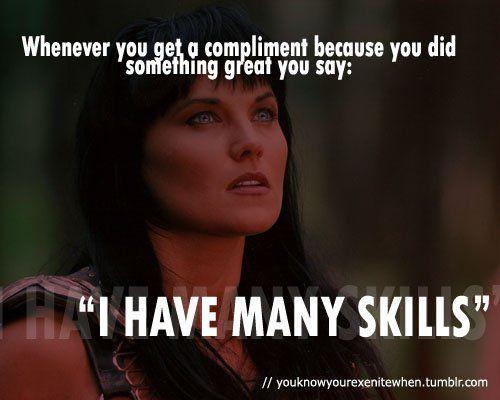 best of Many skills have I