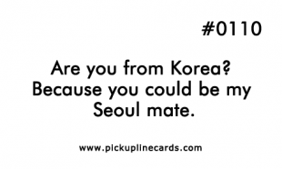 FLAK reccomend Korean pick up lines