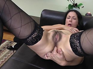 TRISHA: Mature women fingering themselves