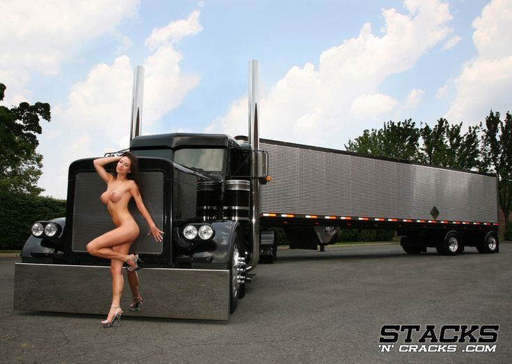 Nude women and big rigs congratulate, magnificent