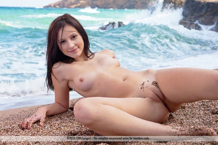 Attentively would nudist at the beach and shaved for
