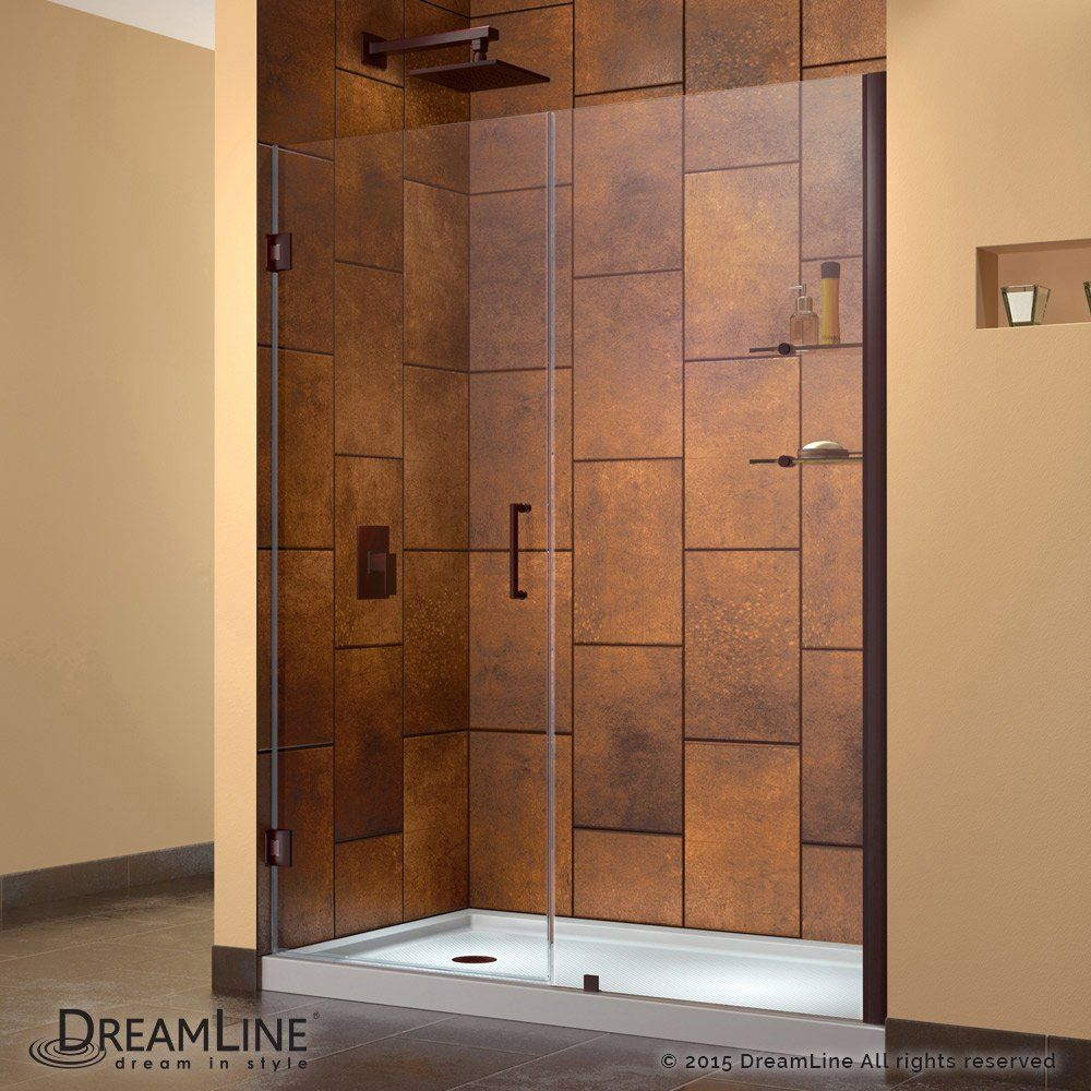 Swinging shower door not plumb
