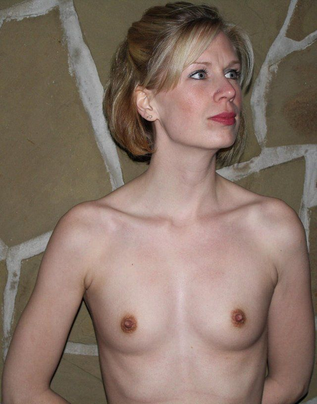 Flat chested naked mature