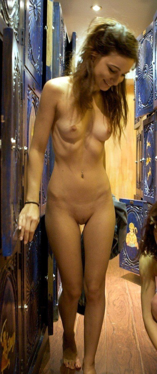 Nude girls in the changing room