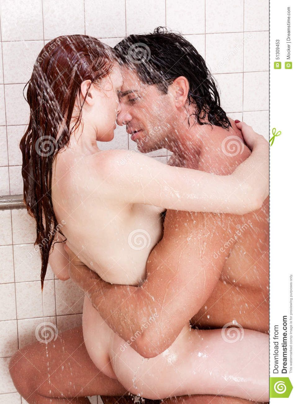 3 Shemales Having Sex man and woman showering naked having sex - adult images
