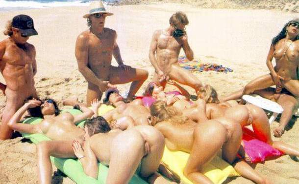 French orgy at the beach