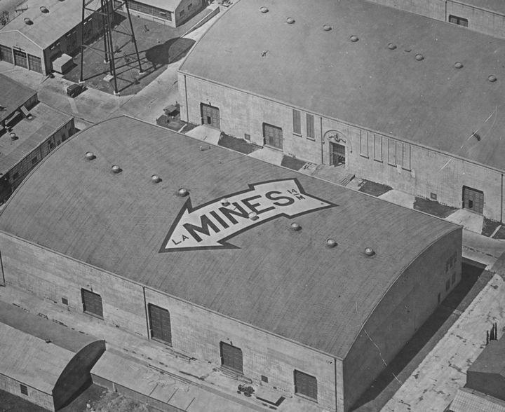 Vintage warner bros movie studio signs