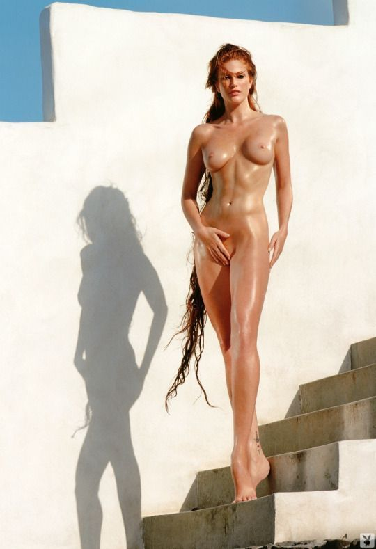 Naked girl and two men