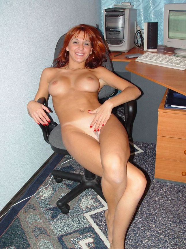 Naked girls at work