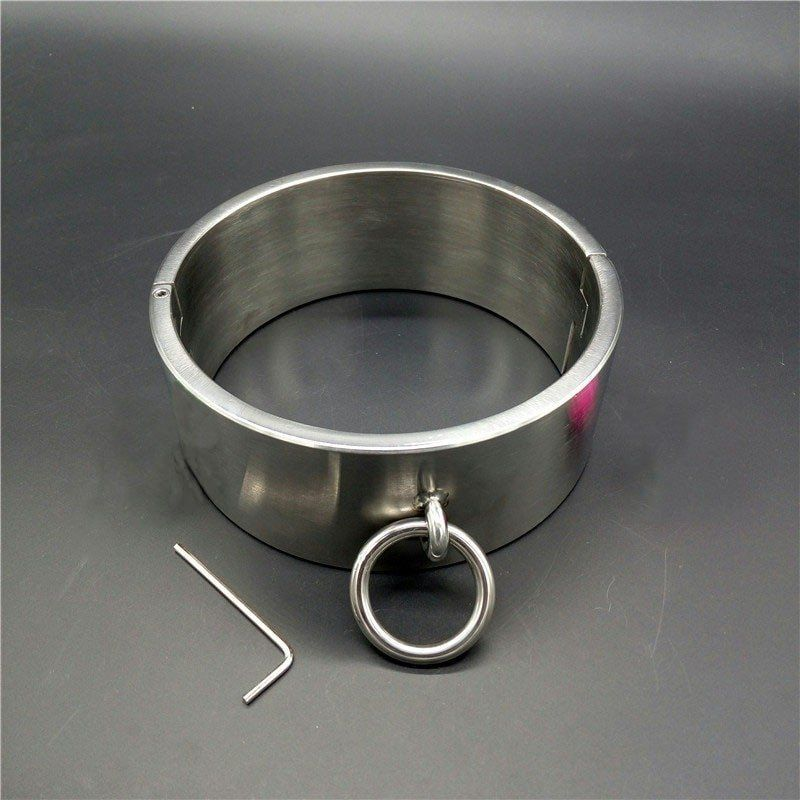 Bondage collar steel