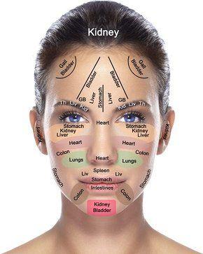 Chinese medicine facial diagnosis