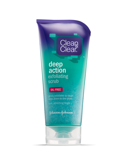 Thunderbird reccomend Clean and clear oxygenating facial scrub