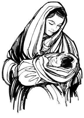 best of Virgin of Clip art mary blessed the