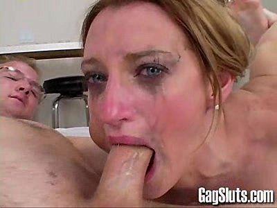 Merlot reccomend Deep throat gagging whore video
