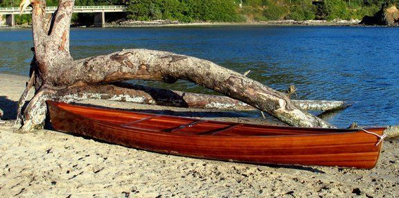 Cedar strip canoe design