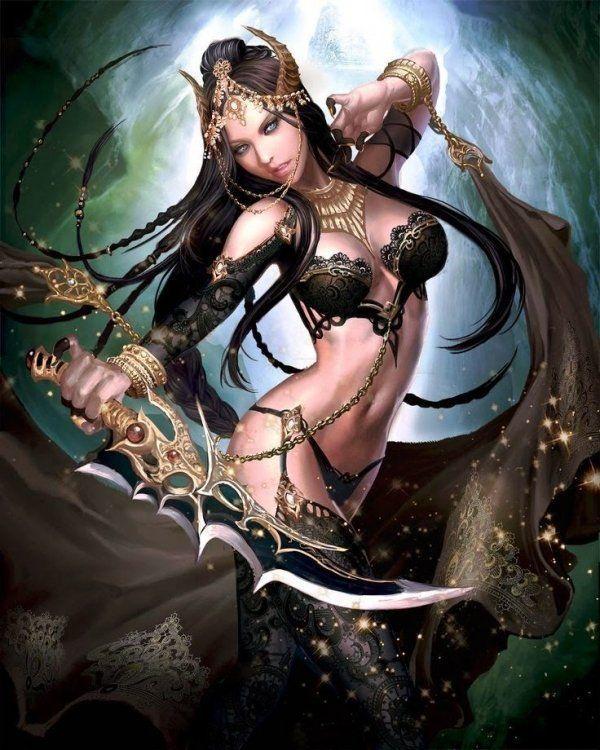 Fantasy art sex warriors nude