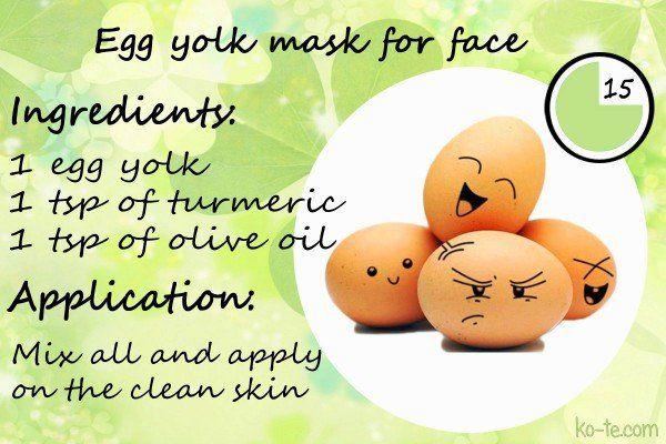 Egg yolk facial