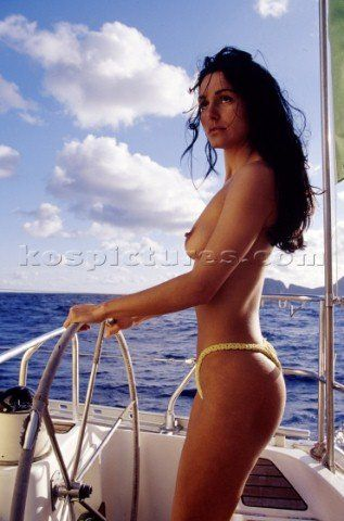 woman naked on boat