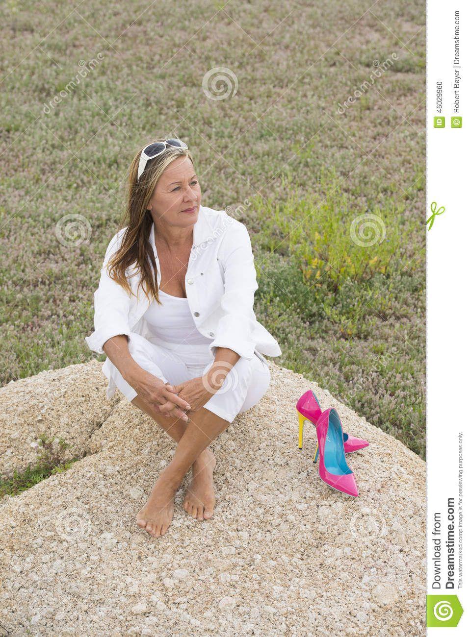 Feet of mature women
