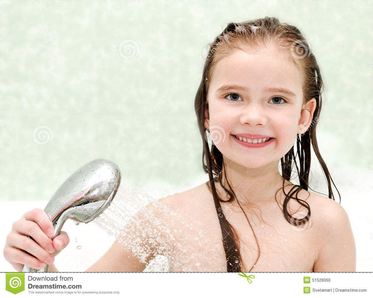 Girl taking shower