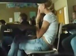 Naked girl masterbating in class