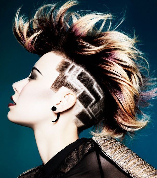 best of Punk designs Hairstyles shaved