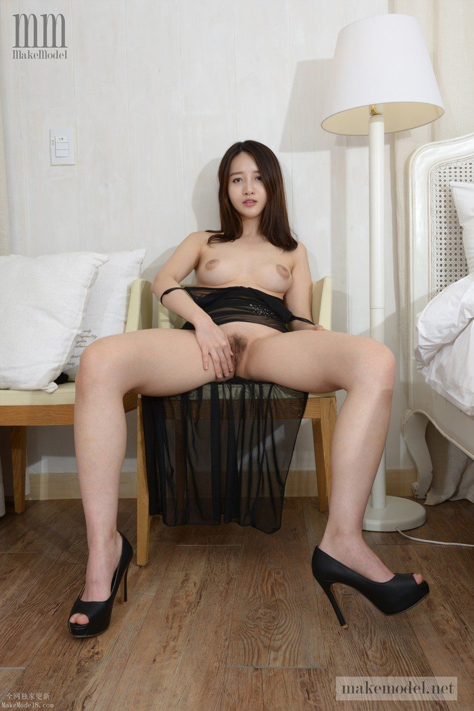 Korean nude model naked have faced