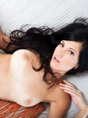 Naked cute girls black hair
