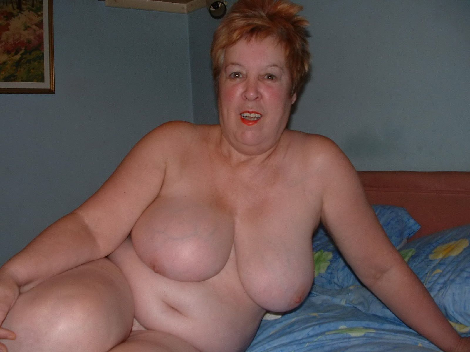 chubby granny naked Blond chubby granny Leila strips naked and shows her hairy ...